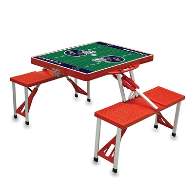 Picnic Time® NFL Licensed Houston Texans Digital Print ABS Plastic Sport Picnic Table, Red