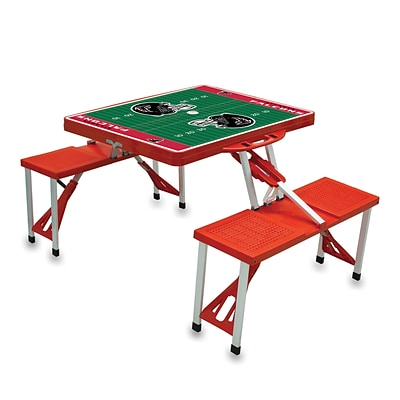 Picnic Time® NFL Licensed Atlanta Falcons Digital Print ABS Plastic Sport Picnic Table, Red