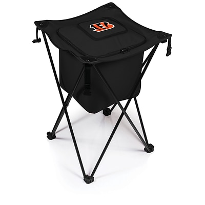 Picnic Time® NFL Licensed Sidekick Cincinnati Bengals Digital Print Polyester Cooler, Black