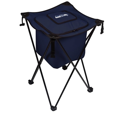 Picnic Time® NFL Licensed Sidekick Seattle Seahawks Digital Print Polyester Cooler, Navy/Slate