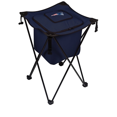 Picnic Time® NFL Licensed Sidekick New England Patriots Digital Print Polyester Cooler, Navy/Slate