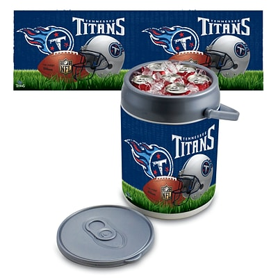 Picnic Time® NFL Licensed Tennessee Titans Digital Print Polyethylene Can Cooler, White/Gray