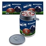 Picnic Time® NFL Licensed Seattle Seahawks Digital Print Polyethylene Can Cooler, White/Gray