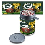 Picnic Time® NFL Licensed Green Bay Packers Digital Print Polyethylene Can Cooler, White/Gray