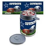 Picnic Time® NFL Licensed Dallas Cowboys Digital Print Polyethylene Can Cooler, White/Gray