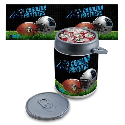 Picnic Time® NFL Licensed Carolina Panthers Digital Print Polyethylene Can Cooler, White/Gray