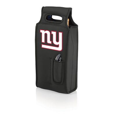 Picnic Time® NFL Licensed Samba New York Giants Digital Print Neoprene Wine Tote, Black