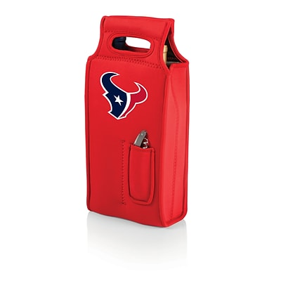 Picnic Time® NFL Licensed Samba Houston Texans Digital Print Neoprene Wine Tote, Red