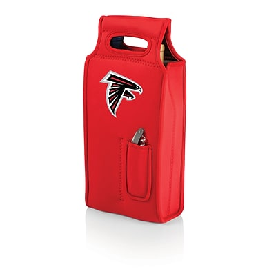 Picnic Time® NFL Licensed Samba Atlanta Falcons Digital Print Neoprene Wine Tote, Red