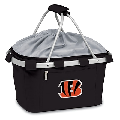 Picnic Time® NFL Licensed Metro® Cincinnati Bengals Digital Print Polyester Basket, Black