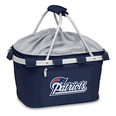 Picnic Time® NFL Licensed Metro® New England Patriots Digital Print Polyester Basket, Navy