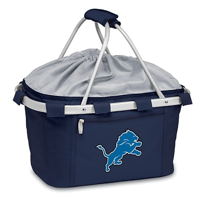Picnic Time® NFL Licensed Metro® Detroit Lions Digital Print Polyester Basket, Navy