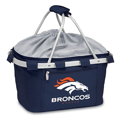 Picnic Time® NFL Licensed Metro® Denver Broncos Digital Print Polyester Basket, Navy