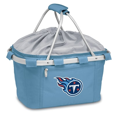 Picnic Time® NFL Licensed Metro® Tennessee Titans Digital Print Polyester Basket, Blue
