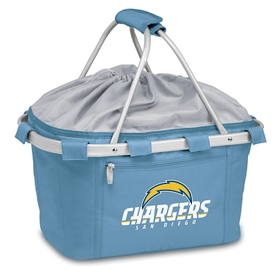 Picnic Time® NFL Licensed Metro® San Diego Chargers Digital Print Polyester Basket, Blue