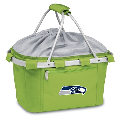 Picnic Time® NFL Licensed Metro® Seattle Seahawks Digital Print Polyester Basket, Lime