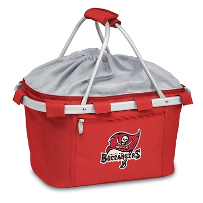 Picnic Time® NFL Licensed Metro® Tampa Bay Buccaneers Digital Print Polyester Basket, Red