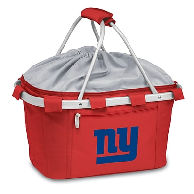 Picnic Time® NFL Licensed Metro® New York Giants Digital Print Polyester Basket, Red