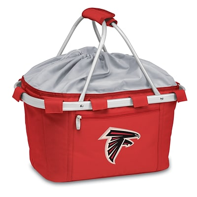 Picnic Time® NFL Licensed Metro® Atlanta Falcons Digital Print Polyester Basket, Red
