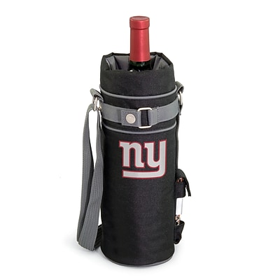 Picnic Time® NFL Licensed New York Giants Digital Print Polyester Insulated Wine Sack, Black