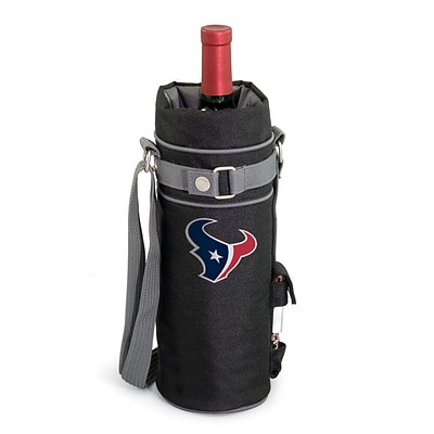 Picnic Time® NFL Licensed Houston Texans Digital Print Polyester Insulated Wine Sack, Black