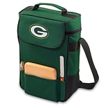 Picnic Time® NFL Licensed Duet Green Bay Packers Digital Print Wine Picnic Tote, Hunter Green
