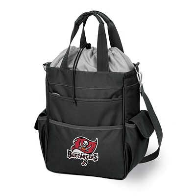 Picnic Time® NFL Licensed Activo Tampa Bay Buccaneers Digital Print Polyester Cooler Tote, Black