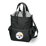 Picnic Time® NFL Licensed Activo Pittsburgh Steelers Digital Print Polyester Cooler Tote, Black