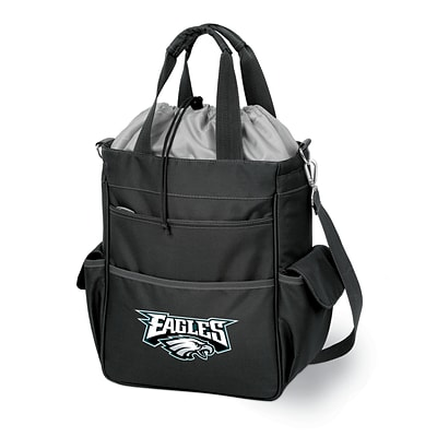 Picnic Time® NFL Licensed Activo Philadelphia Eagles Digital Print Polyester Cooler Tote, Black