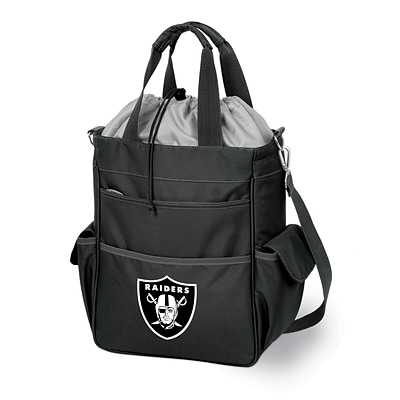 Picnic Time® NFL Licensed Activo Oakland Raiders Digital Print Polyester Cooler Tote, Black