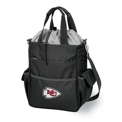 Picnic Time® NFL Licensed Activo Kansas City Chiefs Digital Print Polyester Cooler Tote, Black