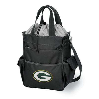 Picnic Time® NFL Licensed Activo Green Bay Packers Digital Print Polyester Cooler Tote, Black