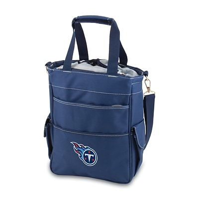 Picnic Time® NFL Licensed Activo Tennessee Titans Digital Print Polyester Cooler Tote, Navy