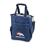 Picnic Time® NFL Licensed Activo Denver Broncos Digital Print Polyester Cooler Tote, Navy