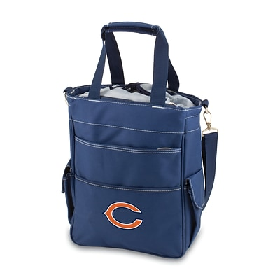Picnic Time® NFL Licensed Activo Chicago Bears Digital Print Polyester Cooler Tote, Navy