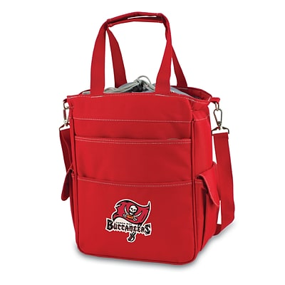 Picnic Time® NFL Licensed Activo Tampa Bay Buccaneers Digital Print Polyester Cooler Tote, Red