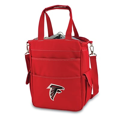 Picnic Time® NFL Licensed Activo Atlanta Falcons Digital Print Polyester Cooler Tote, Red
