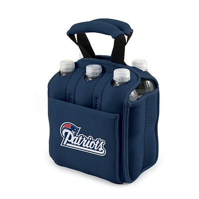 Picnic Time® NFL Licensed Six Pack New England Patriots Digital Print Neoprene Cooler Tote, Navy