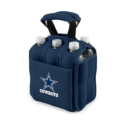 Picnic Time® NFL Licensed Six Pack Dallas Cowboys Digital Print Neoprene Cooler Tote, Navy