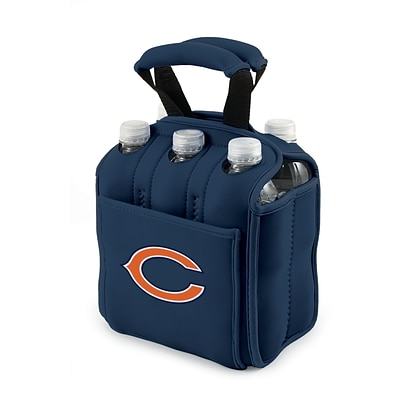 Picnic Time® NFL Licensed Six Pack Chicago Bears Digital Print Neoprene Cooler Tote, Navy