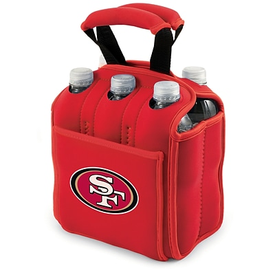 Picnic Time® NFL Licensed Six Pack San Francisco 49Ers Digital Print Neoprene Cooler Tote, Red