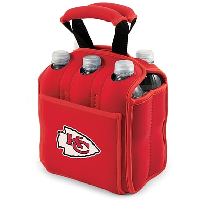 Picnic Time® NFL Licensed Six Pack Kansas City Chiefs Digital Print Neoprene Cooler Tote, Red
