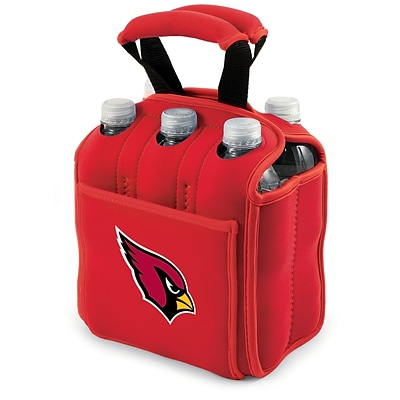 Picnic Time® NFL Licensed Six Pack Arizona Cardinals Digital Print Neoprene Cooler Tote, Red