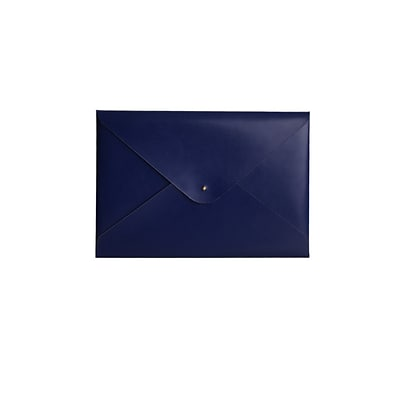 Paperthinks® Recycled Leather File Folder, Blue Shiny