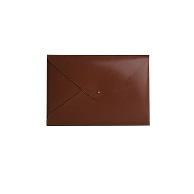 Paperthinks® Recycled Leather File Folder, Tan Shiny