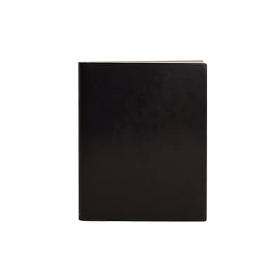 Paperthinks™ Classic Collection Extra Large Ruled Notebook, 17.8 x 22.8, Black Shiny