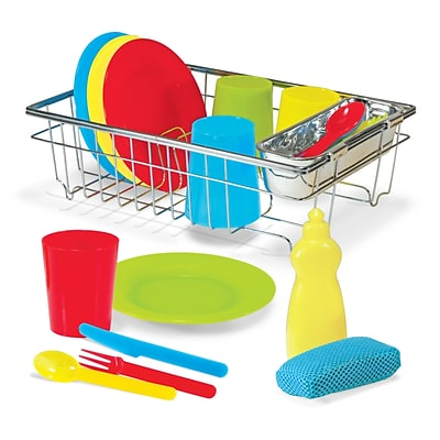 Melissa & Doug® Lets Play House Wash and Dry Dish Set