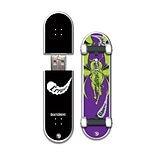 EP Memory Creature Skatedrive CRSKATENF8GB USB 2.0 Flash Drive, Multicolor