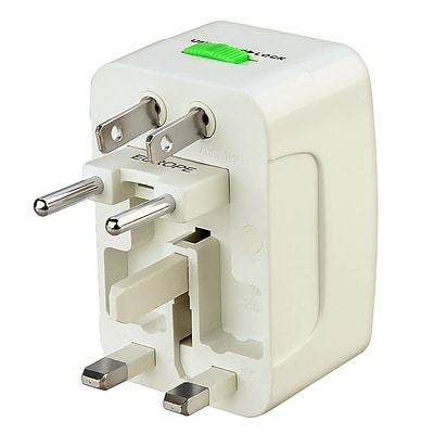 Insten® World Wide Travel Charger Adapter Plug, White
