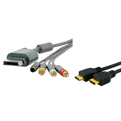 Insten® 320130 2 Piece Game Cable Bundle For Xbox 360